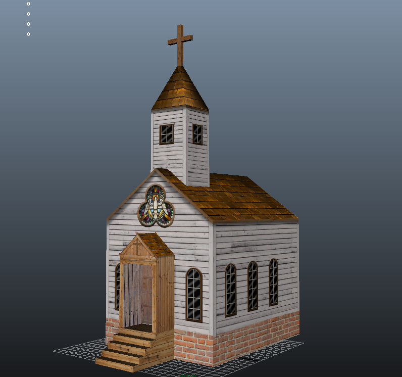 3d church house by mike obee lay on deviantart