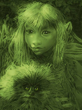 THE DARK CRYSTAL,  KIRA  AND FIZZGIG  1D