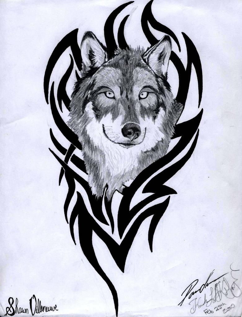 Wolf tribal by kristhesith on deviantart