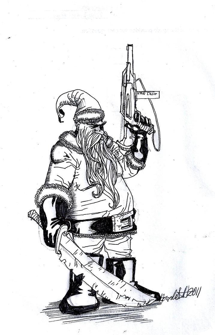badass santa by haybailscott on deviantart