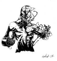 finished spidey venom by HaybailScott