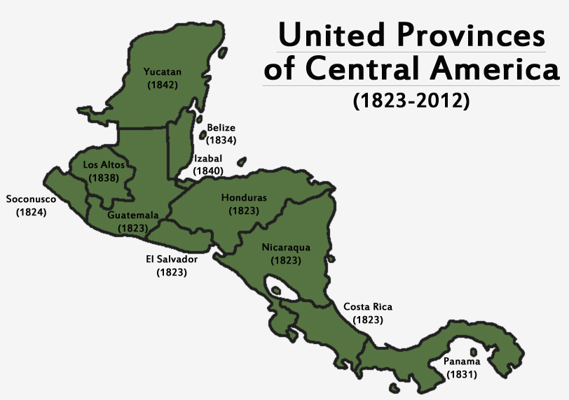 United Provinces of Central America by LaTexiana on DeviantArt on u s military history central america map, federation of central america map, colonial latin america map, us and mexico map, central america caribbean map, physical regions of the united states map, blank us physical geography map, anglicanism england united states spread map, anglican church population map,
