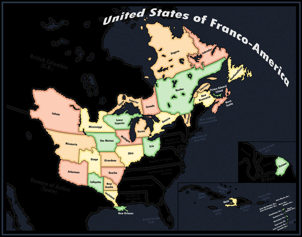 United States of Franco-America Revamped by DaFreak47