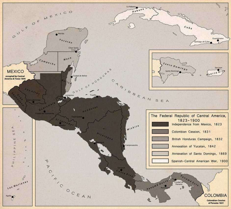 Territorial Evolution of Central America by LaTexiana on DeviantArt