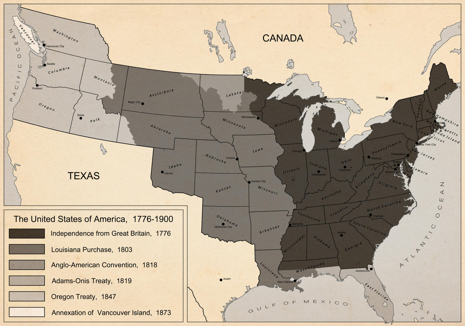 Territorial Evolution of America by DaFreak47