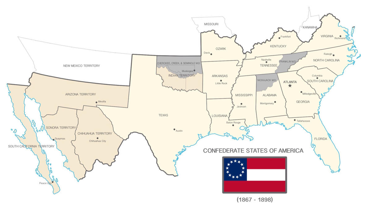 Confederate States Of America IPad Idea By LaTexiana On - The confederate states us territories and united states map