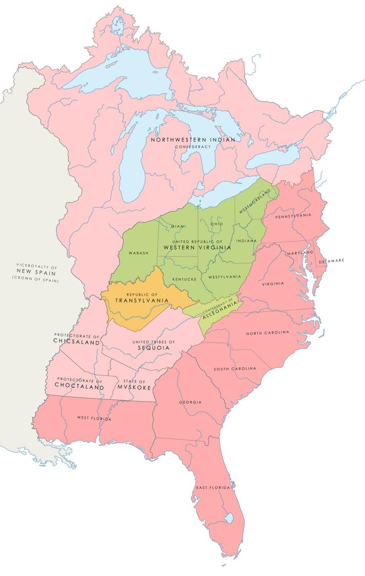 Scrapped Map: Fredonian Republics by LaTexiana