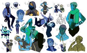 draws more steven universe au than the normal ocs