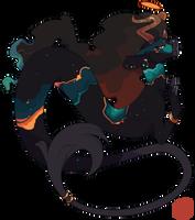 AC- 102 Amber Nebula by capriamasterlist