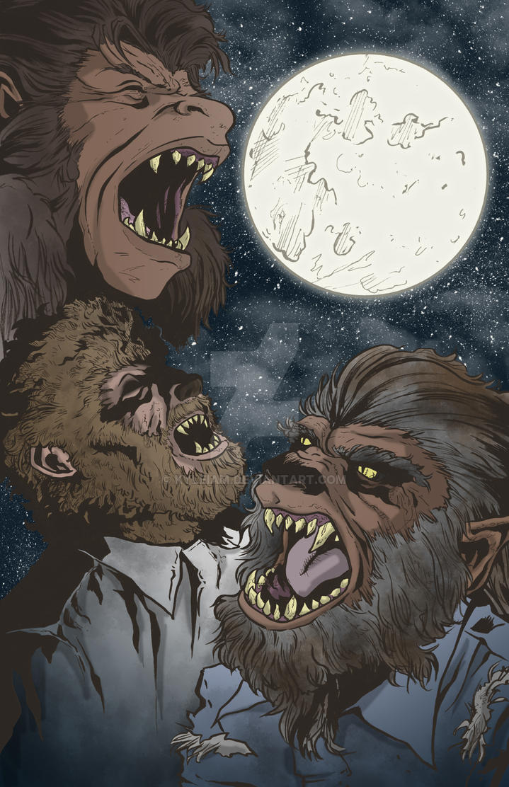 Three Wolfman Moon by KyleIAM