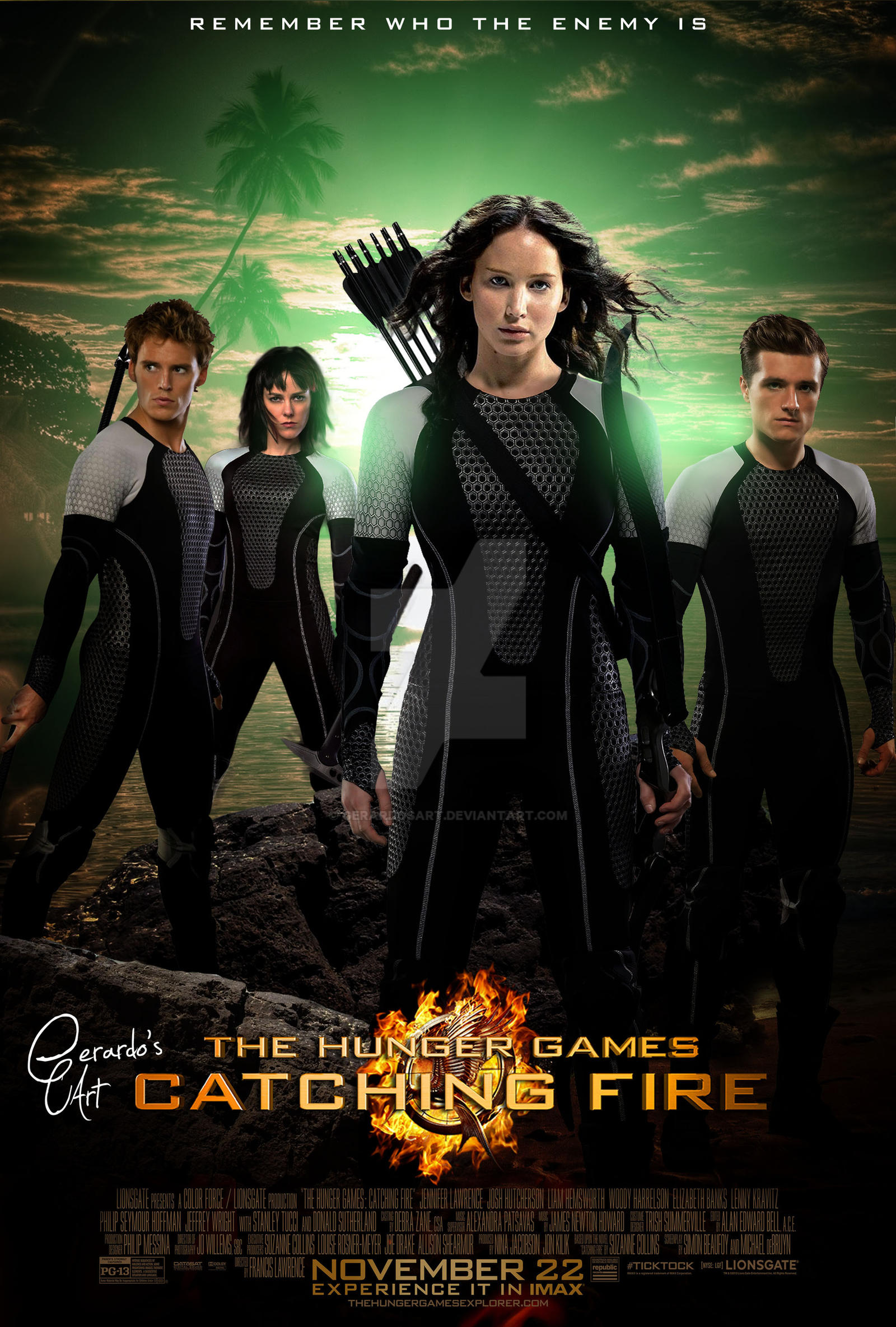 Hunger games 2 catching fire poster