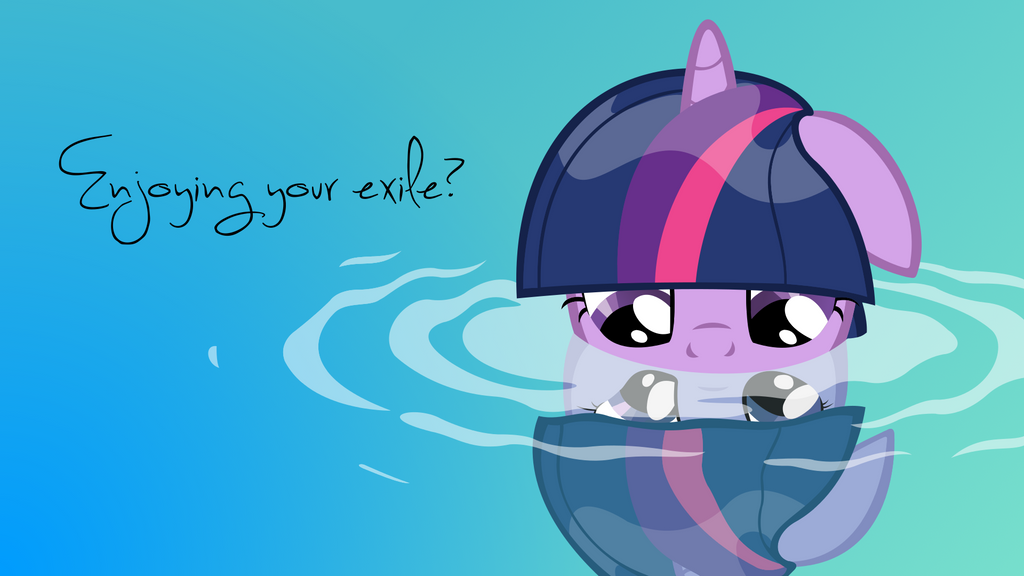 Wallpaper - Enjoying Your Exile? by Psalmie