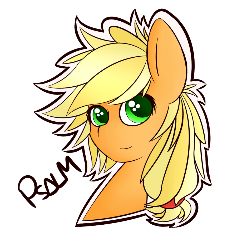 Applejack Headshot by Psalmie