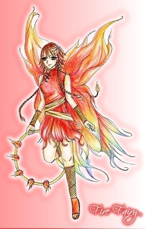 Fire Element Fairy by leaair on DeviantArt