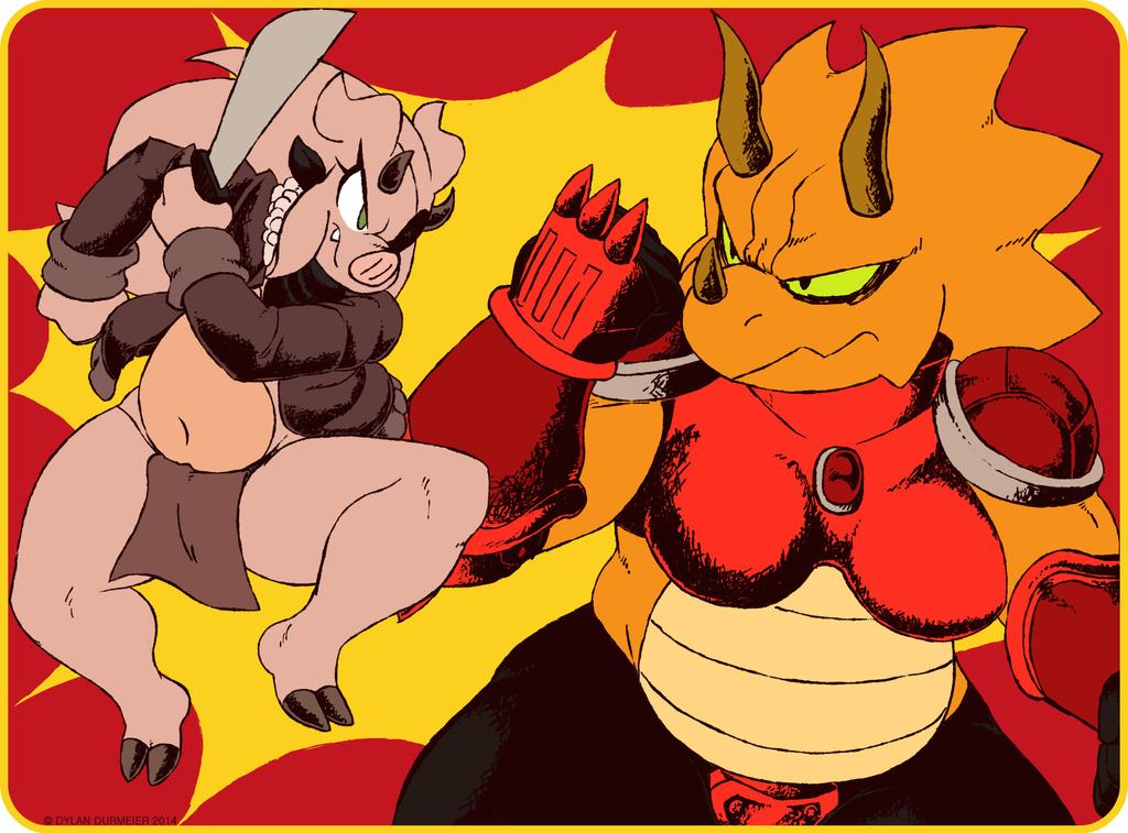Lucy VS Rock-Smasher by SSO-Robo