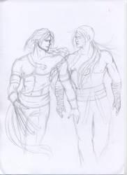 Vega and Kairi drawing...