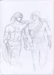 Vega and Kairi drawing... by argeiphontes