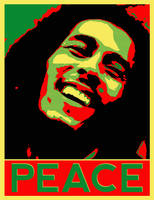 Peace and Bob Marley by JackieCrossley