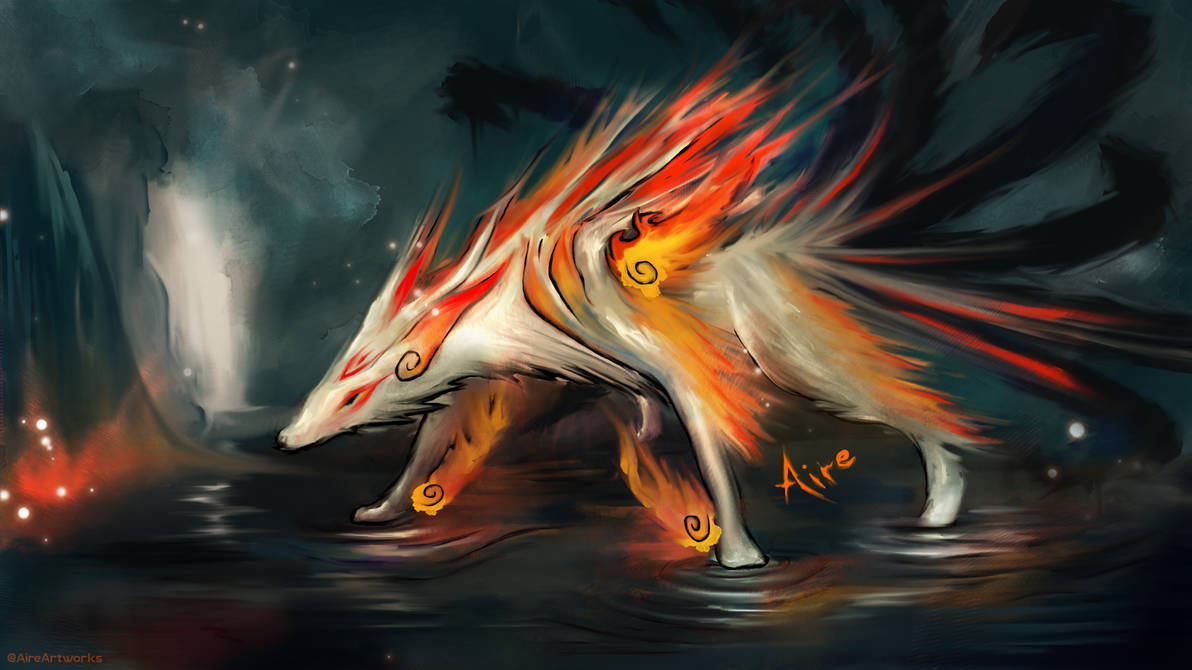 9 Tailed Fox by Aire