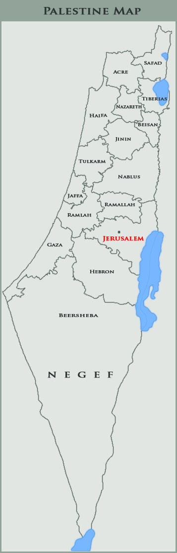 Palestine Map By PalestineClub On DeviantArt - Map of palestine