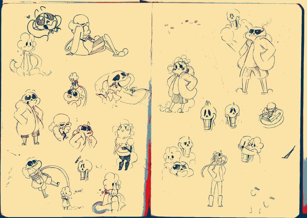 Doodles Of Undertale By GrayFluffyWolf On DeviantArt