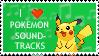 Pokemon Soundtracks Stamp by lila79