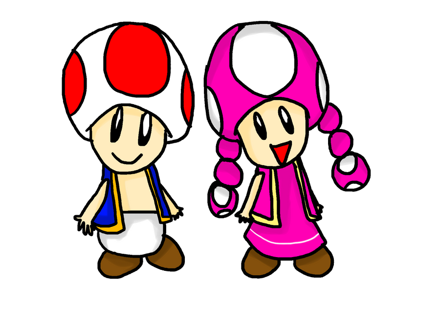 Hey you, click here ! Toad_and_toadette_by_lila79-d4q4ofq