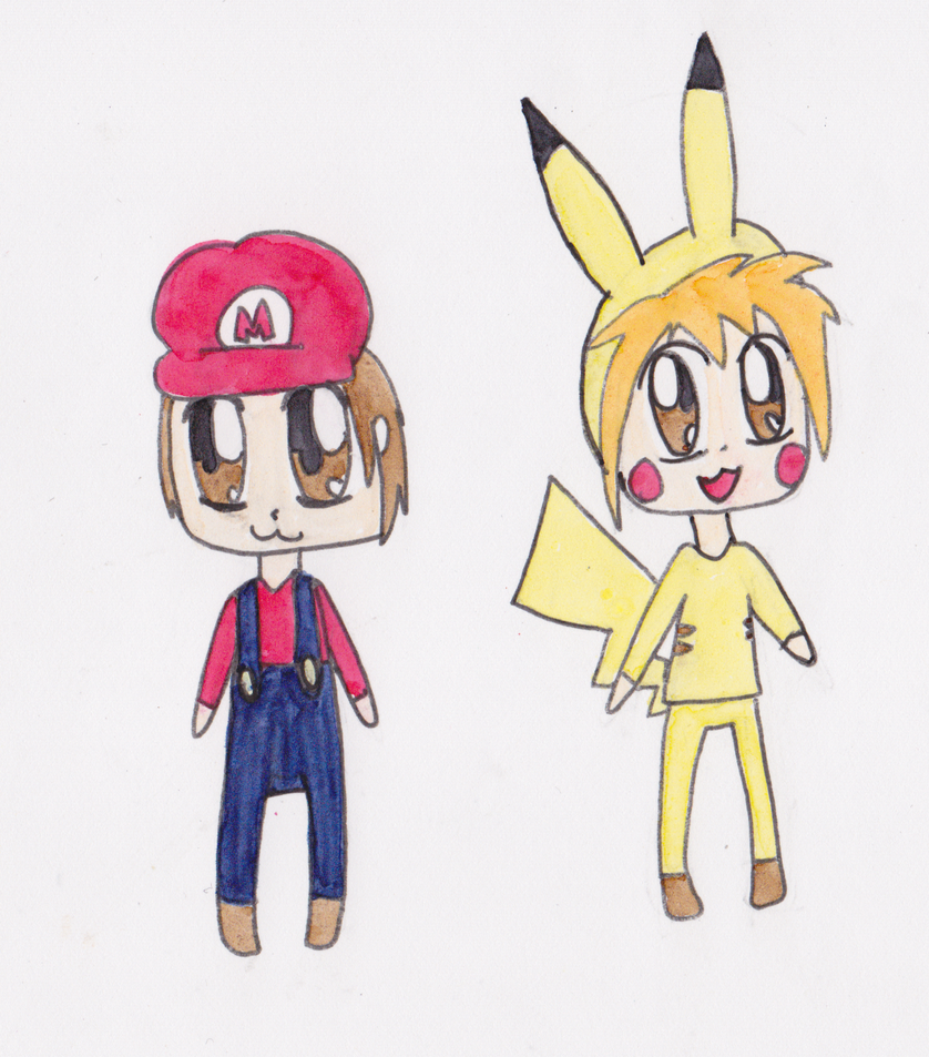 Hey you, click here ! Mario_and_pikachu_cosplay_by_lila79-d4t43uj