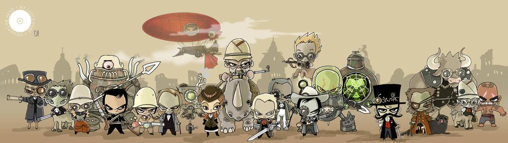 My Clockwork Steampunk Army