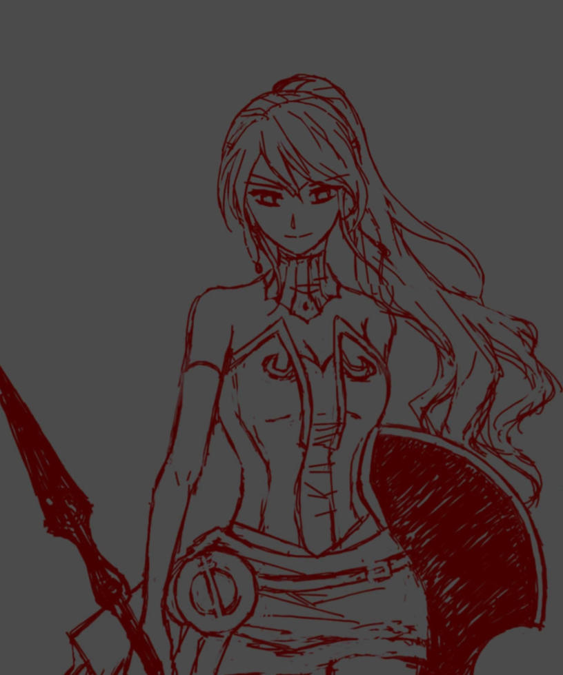 Pyrrha Nikos speed sketch by witchofwest
