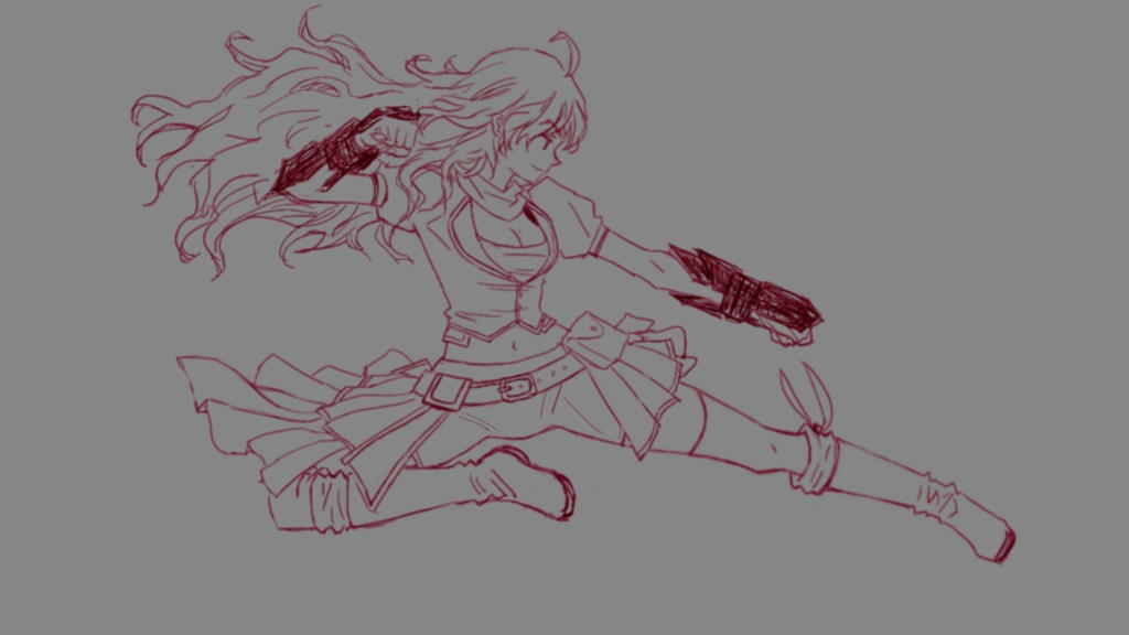 Yang Xiao Long sketch by witchofwest