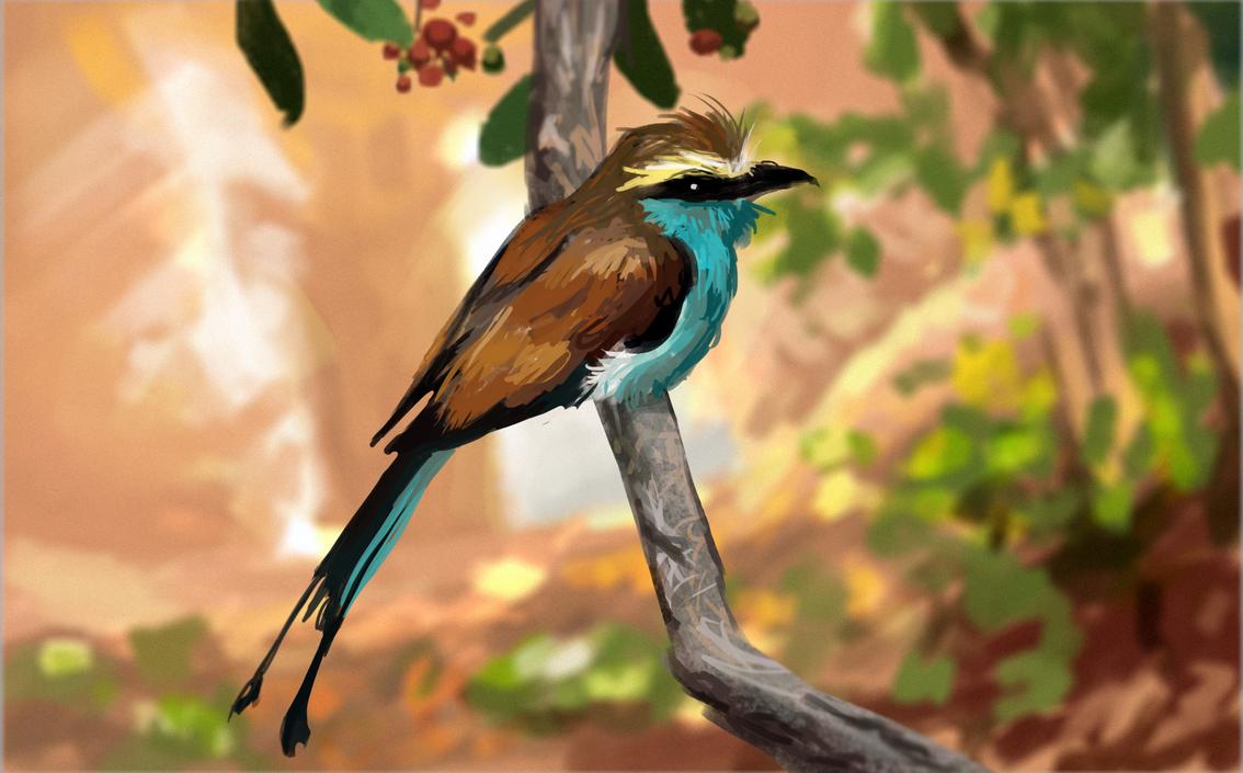 Tropical Bird 2 By 0x4fffwhite On Deviantart