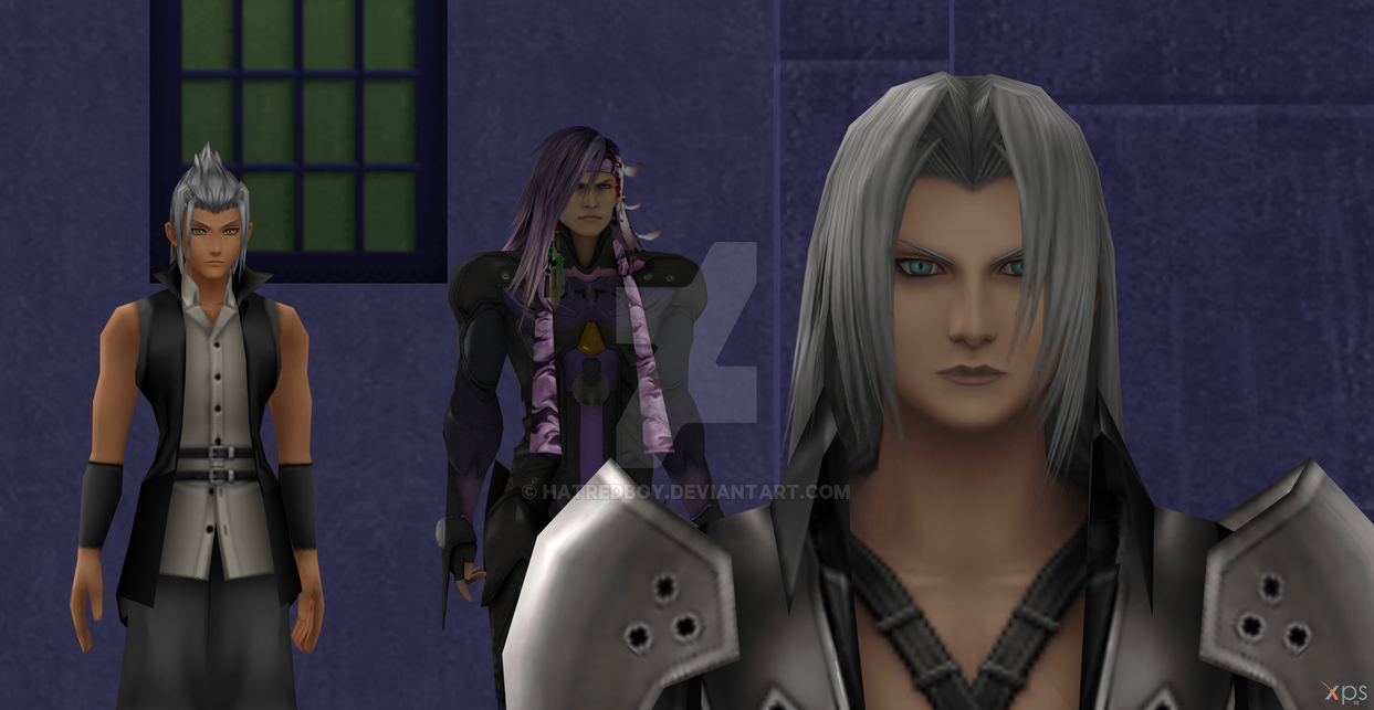Xehanort and Caius vs Sephiroth for tranning by Hatredboy