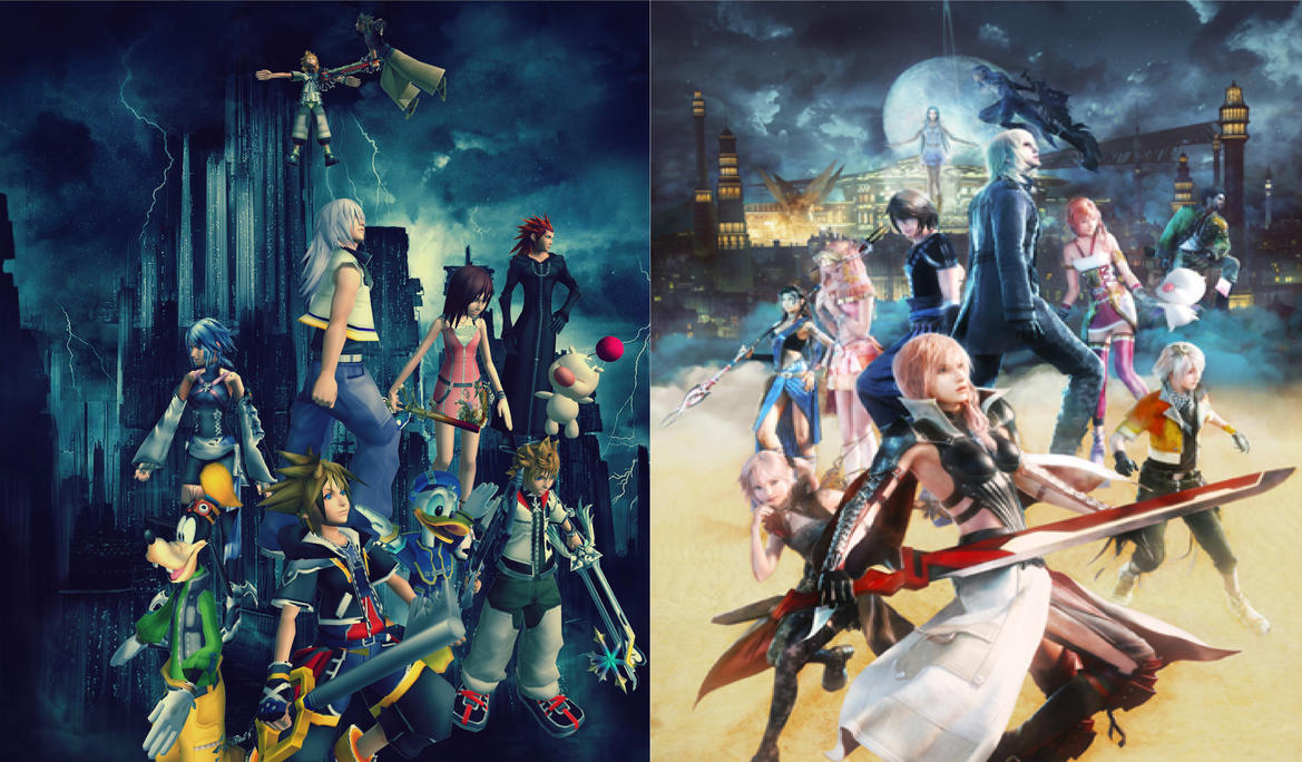 Kingdom Hearts 3 and FF XIII Lightning Return by Hatredboy