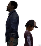 Lee and Clementine The Walking Dead