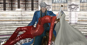 Vergil holds Jeanne into his arms