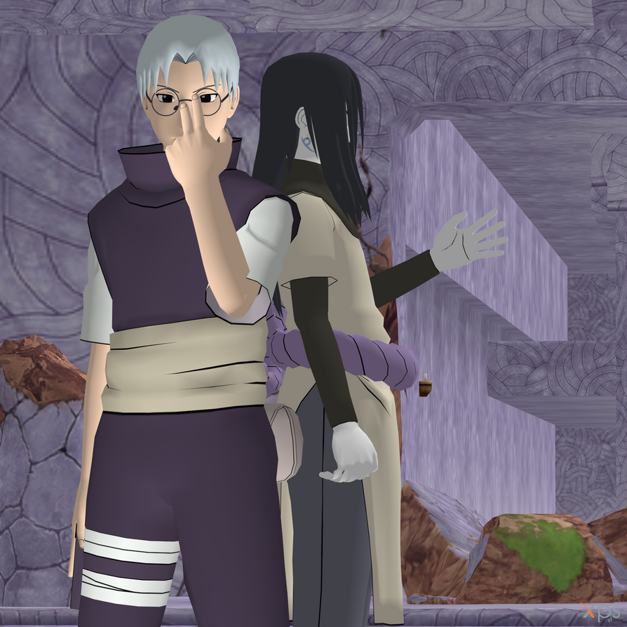 Kabuto and Orochimaru by Hatredboy