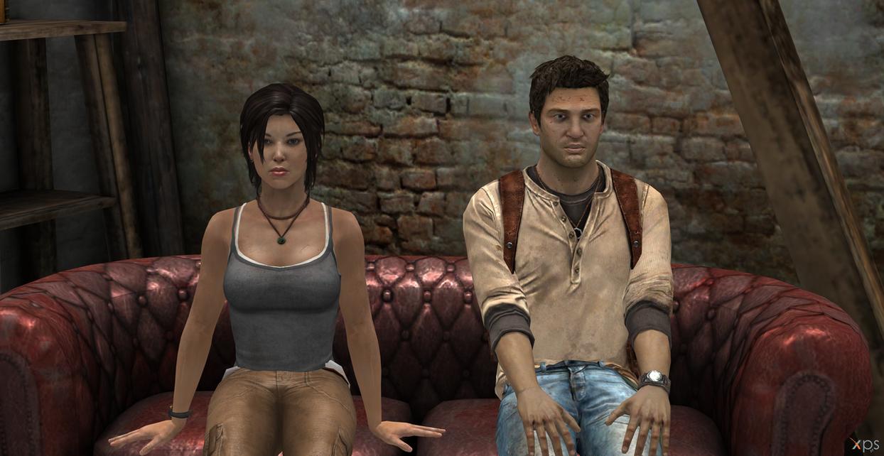 Lara Croft And Nathan Drake: Lara Croft And Nathan Drake By Hatredboy On DeviantArt