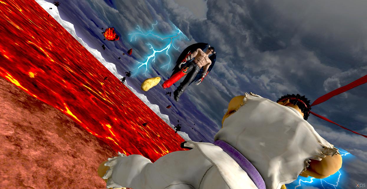 devil jin vs evil ryu overpower battle by hatredboy on deviantart
