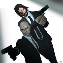 The Hitman vs The Reaper by Hatredboy