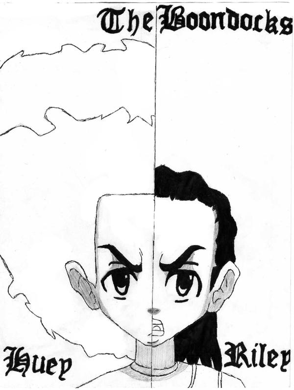 huey and riley the boondocks by tip the revolution
