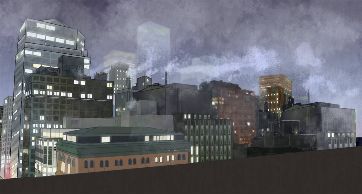 City Rooftop Background