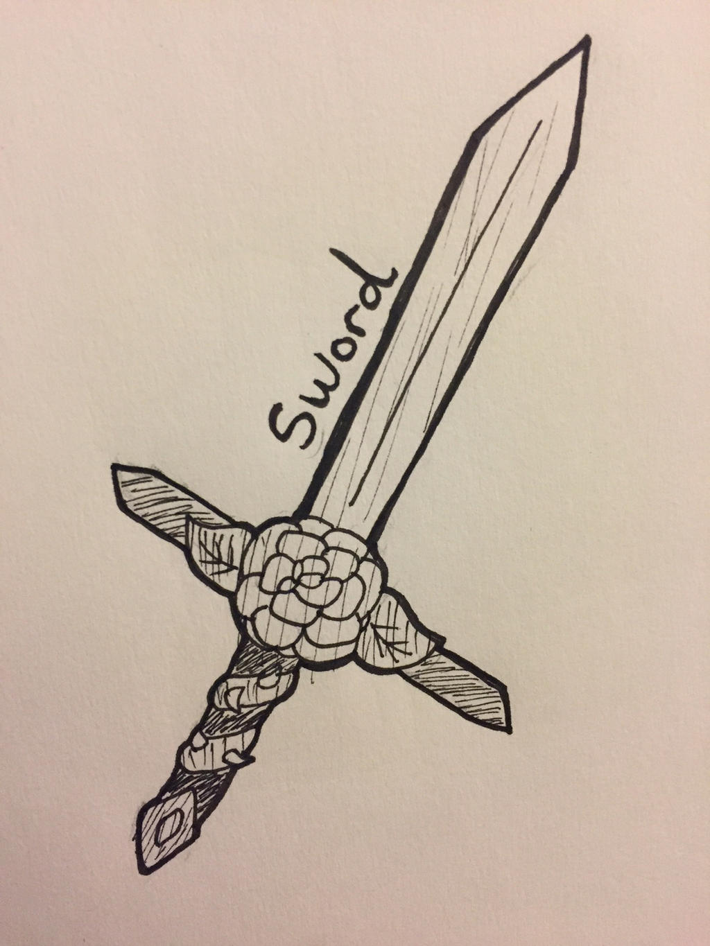 Inktober Day 6: Sword by Panolli