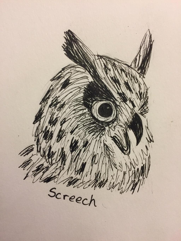 Inktober Day 9: Screech by Panolli
