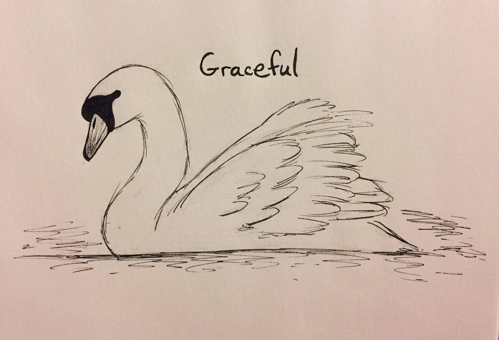 Inktober Day 17: Graceful by Panolli