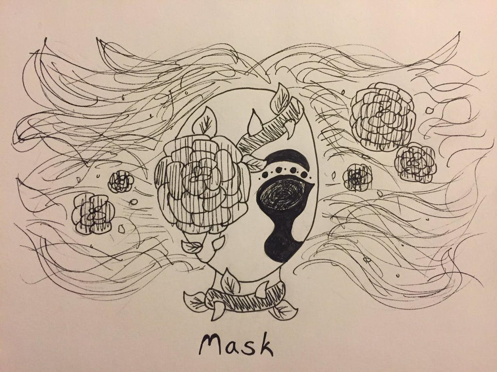 Inktober Day 31: Mask by Panolli