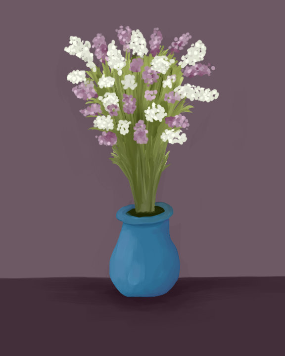Flowers in a Vase by Panolli