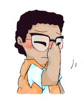 Facepalming lil nerd by AKHTS