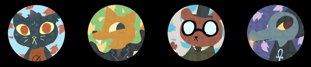 (Old stuff) Night In The Woods buttons by AKHTS