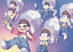 (Old stuff) Osomatsu-san S2 poster by AKHTS